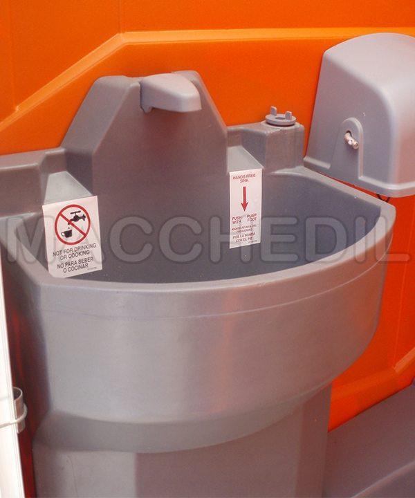 particolare lavadino bagno chimico macchedil