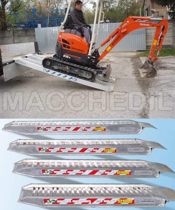 Rampe di carico in alluminio per macchine edili mt for Rampe da carico usate