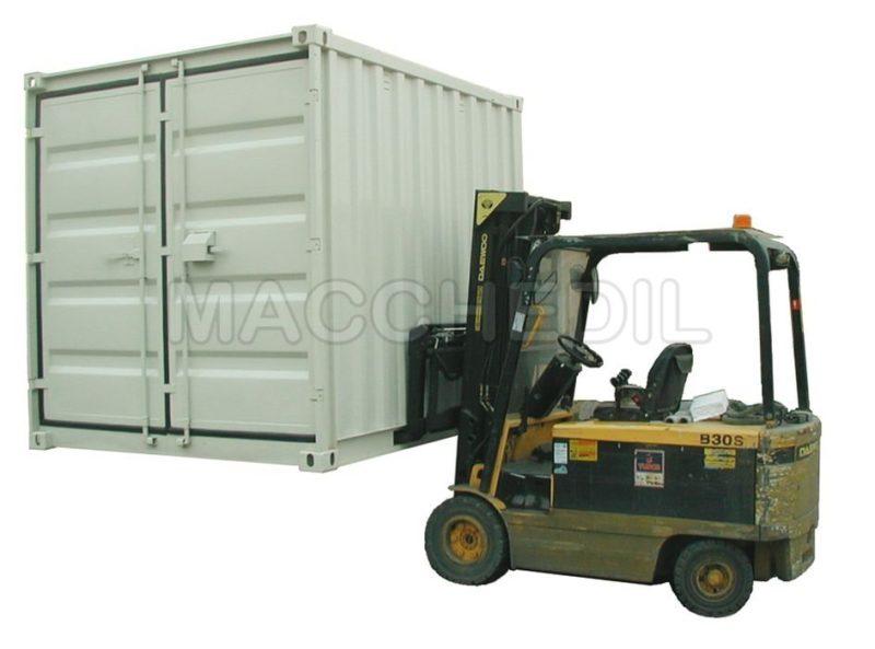 Caricamento Container ISO modul su muletto