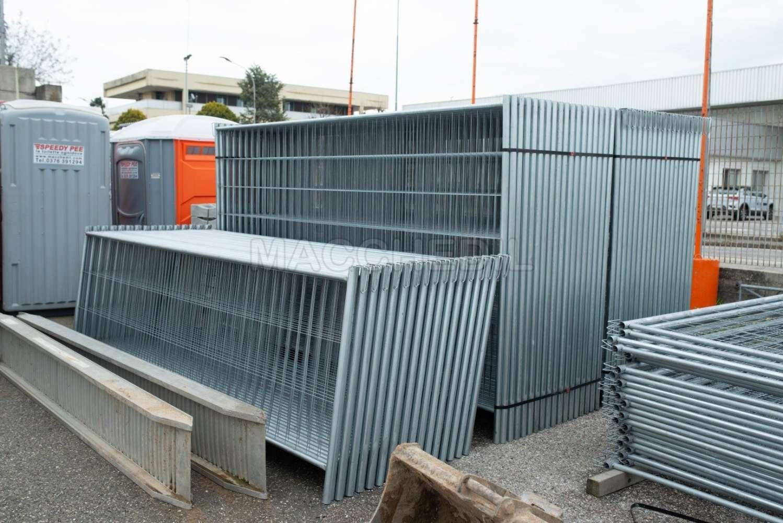 Delimitazioni E Recinzioni In Plastica.Recinzione Per Cantiere 36 Pezzi Reti Metalliche Provvisorie 2 M Altezza
