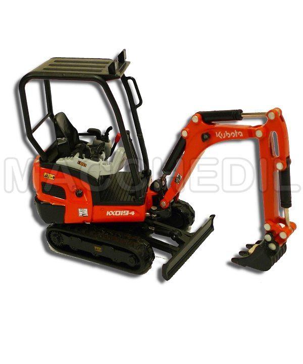 modellino escavatore kubota kx19