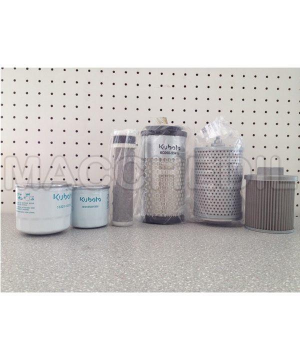 macchedil kubota kit filtri tagliando miniescavatore