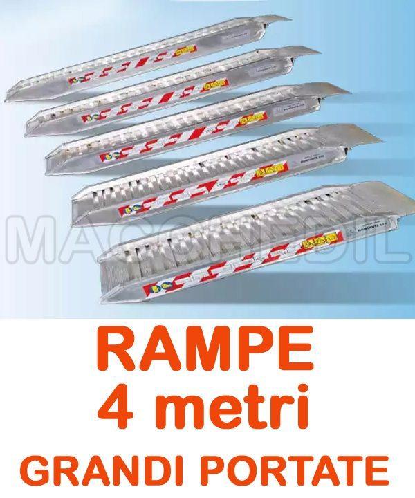 rampe in alluminio per il carico mezzi
