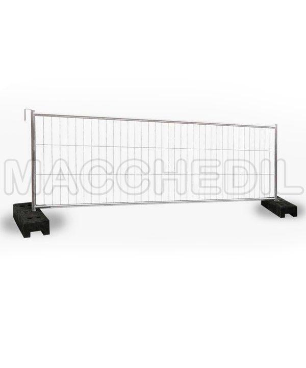 Recinzioni mobili altezza 1,2 metri - pacco 30 reti e 30 piedi
