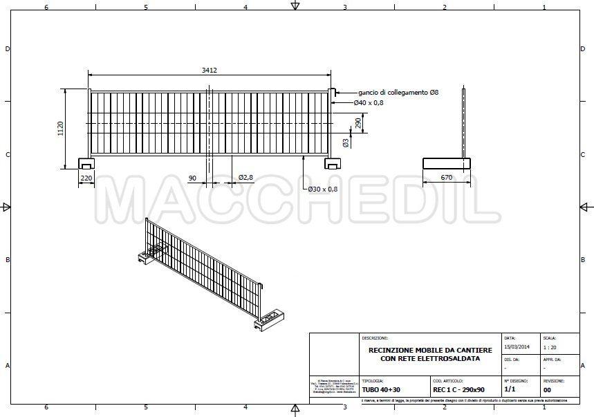 Recinzioni mobili altezza 1 2 metri macchedil for Altezza recinzione per cani