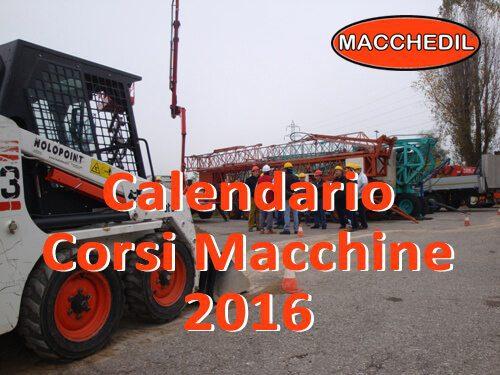 Calendario Corsi Macchine 2016 - date Marzo/Aprile/Maggio | Macchedil Online Store