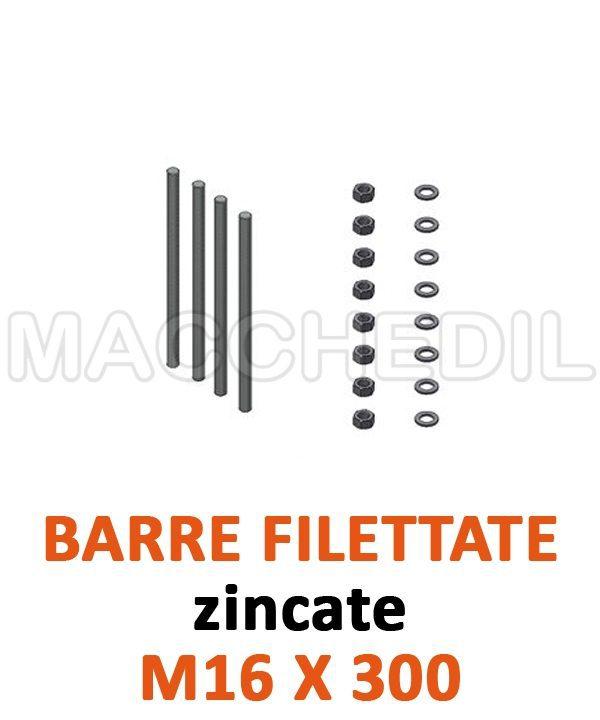 Barre filettate zincate per linea vita