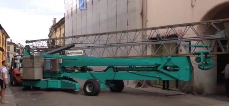 Montaggio Gru edile Cattaneo CM64 | Macchedil Online Store