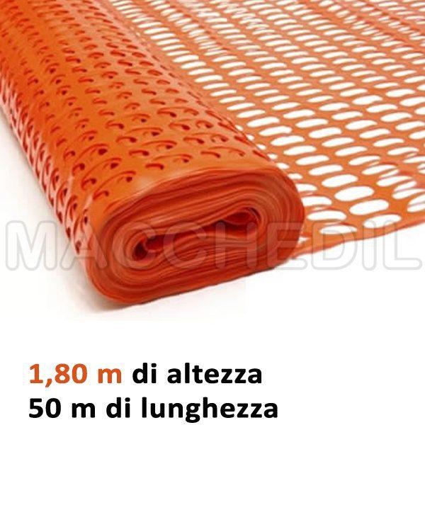 rete arancione 180 cm h
