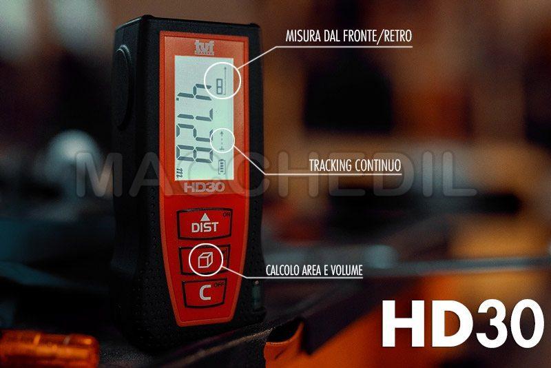 Altre funzioni misuratore distanziometro laser hd30