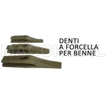 denti a forcella per benne