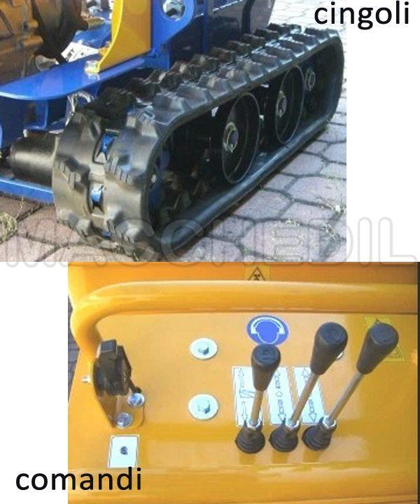 motocarriola batmatic dettaglio pannello di comandi