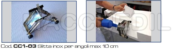 supporto a slitta perangoli di 10 cm per taglio polistirolo