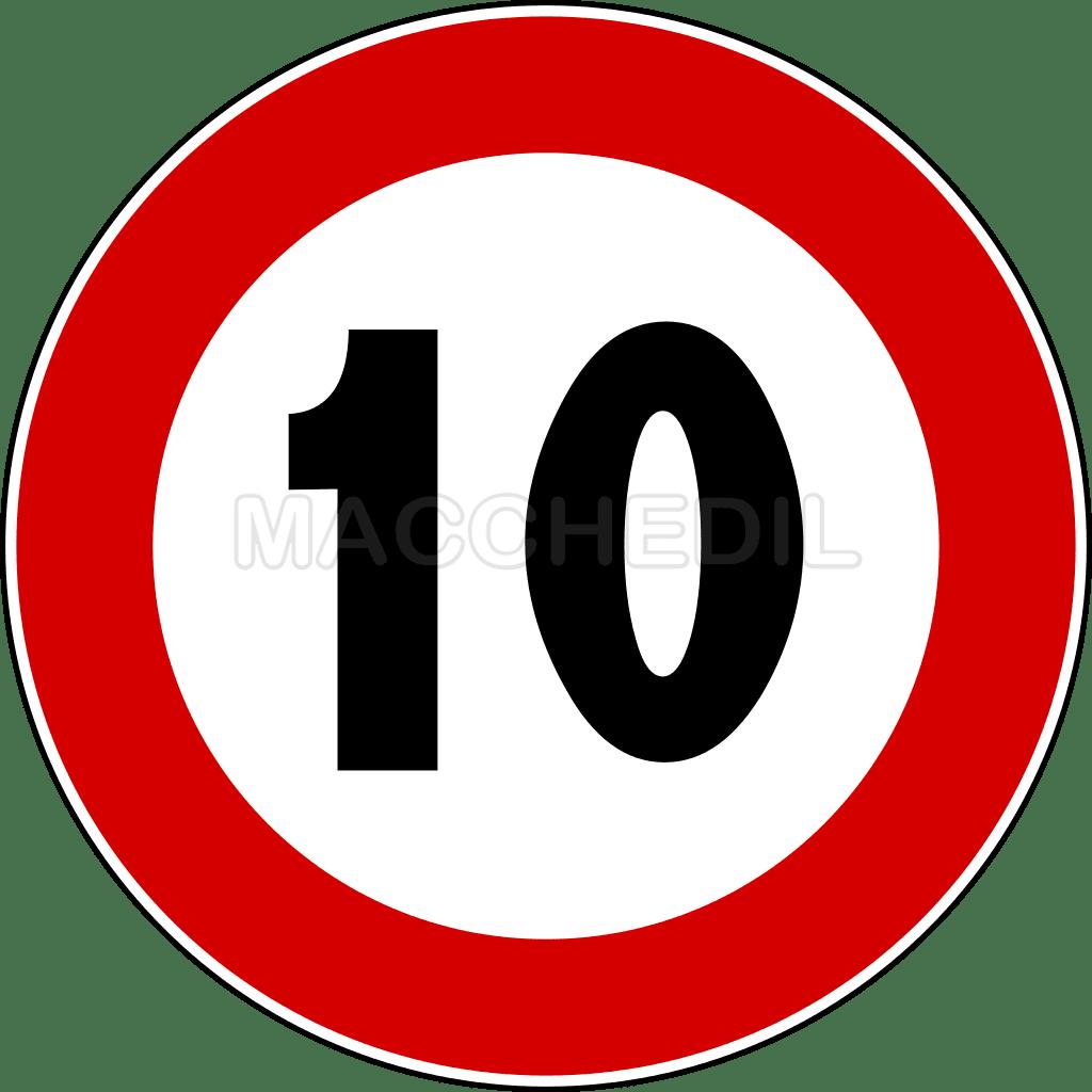 Cartello stradale limite 100 km h in metallo for Limite pagamento contanti 2017